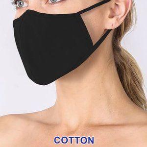 2/$15 SALE FACE MASK ADULT OSFM COTTON BASIC BLACK